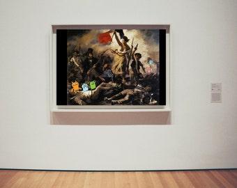 Liberty Leading the Uglies | Collage | Digital Art