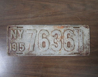 1915 New York State License Plate