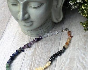 Chakra Balancing Crystal Necklace