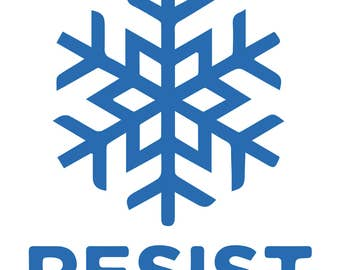 Resist Snowflake Design Sticker