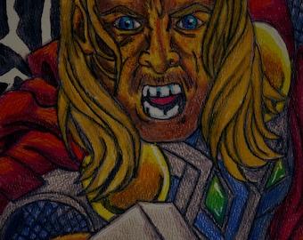 Thor Metallic Watercolor Print