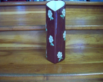 Heart vase with flowers lace