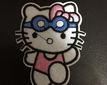 Hello Kitty, Hello Kitty Iron on Patches, 6.5x7.5cm size