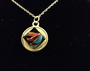 Retro Jewelry Repurposed into Funky Pendant – Evelyn