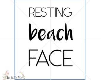Resting Beach Face SVG & PNG file