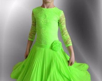 Girl's Ballroom/Latin Dress 'Florance' with Changeable Skirts
