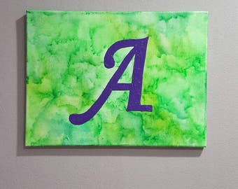 Letter 'A' Melted Crayon Art