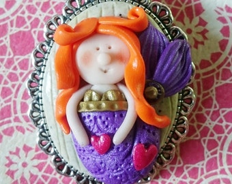 Sarah pretty little redhead Mermaid (Paperback jewelry)