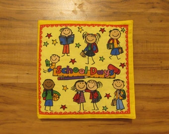 Cloth Children's Book School Days