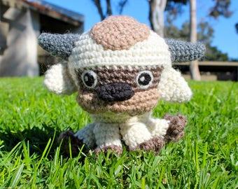 Crochet Appa Plushie, Appa Amigurumi, Handmade Sky Bison, Avatar the Last Airbender