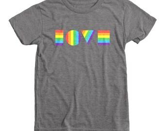 LGBTQ Love Shirt | Youth Eco Triblend Shirt | Kids LGBT Shirt | Kids Gay Pride Shirt | Equality March | Gay Pride Kids | Two Moms | Two Dads