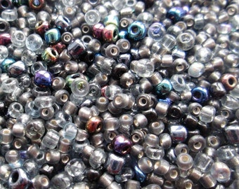 50g 11/0 Seed Bead Mix/Seed Beads, Midnight Mix- SKU 11 014 (only pay postage on first item in an order)