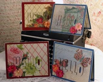 Hello Greeting Cards-4 Handmade