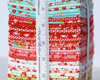Little Ruby Fat Quarter Bundle, by Bonnie and Camille for Moda Fabrics