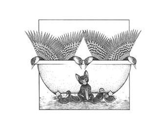 Bird Bath Print