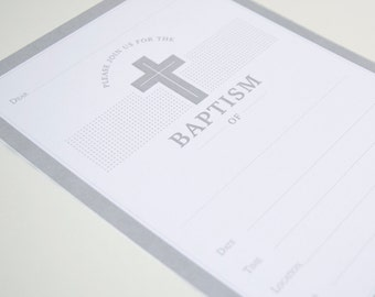 Invitations Blank - Baptism