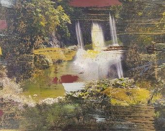 Victoria  Island , Butchart Gardens Waterfall