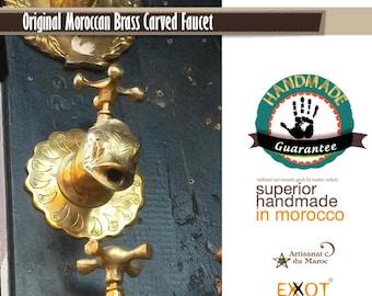 Moroccan garden/sink faucet brass handmade 100%