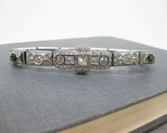 Vintage The Nov-E-Line Rhinestone Bracelet