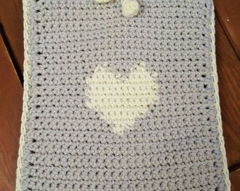 Handmade crocheted Kindle case/cover. Suitable for Kindle Paperwhite measures 5.5 x 7.5 inches. Custom colours available