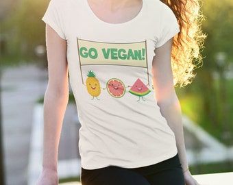GO VEGAN! | Vegan shirt, Vegan Clothing, Vegan Gifts, Vegan tshirt, vegan top, vegan clothes, vegan tee, Cruelty Free t shirt, veganism