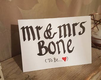 Personalised Engagement Cards