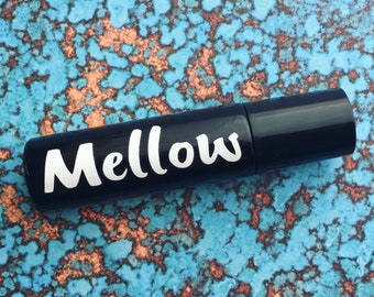 MELLOW: chill, relax. 100% Pure Therapeutic Grade Essential Oil Roller Ball Bottle Blend.