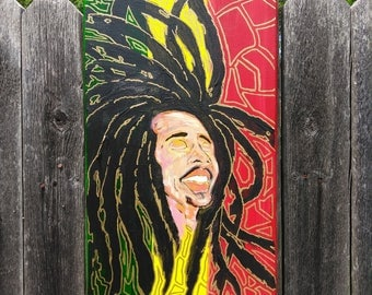 """Marley """"Irie"""" Painting on Canvas"""