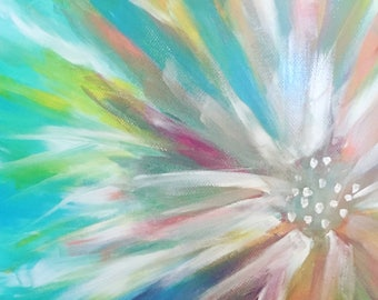 Abstract, flower, art, painting