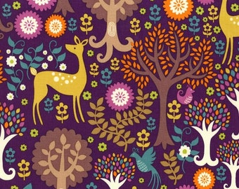 Fantasy forest fabric -Michael Miller Forest -woodland fabric-fantasy forest -Michael Miller fabric -quilting cotton -forest cotton fabric
