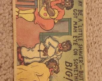 FREE SHIPPING **1950's  Vintage Black Americana Postcard