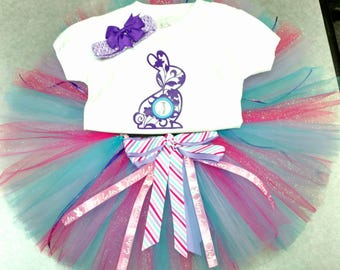 Monogramed Initial Bunny Tutu Outfit