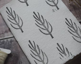 Hand-bound and printed notebook: Tree