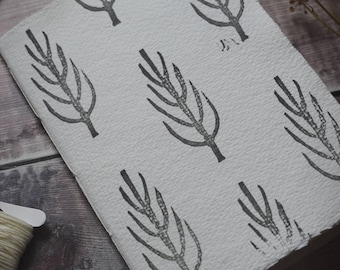 Hand-printed notebook: Tree