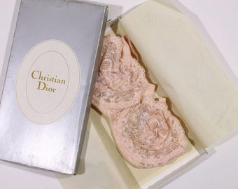 Christian Dior Vintage Pink Lace Bra