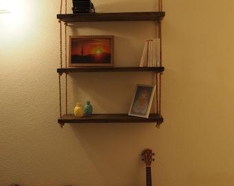 Scandinavian style wooden shelf