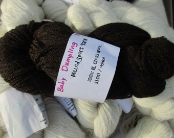 100% Wool   Sport Yarn   Natural Brown