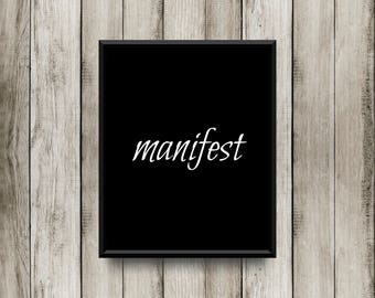 Manifest - Black Printable 8x10