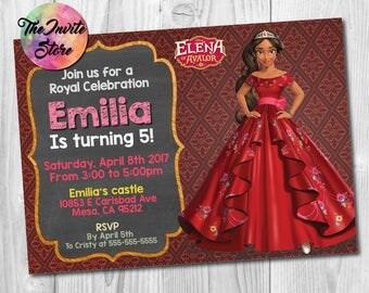 Elena of Avalor Invitation, Elena Invitation, Princess Elena, Elena of Avalor Invite, Elena Party, Elena Invite, Printable, Digital, AB-020