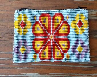 Mexican bead coin purse