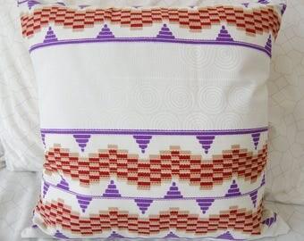 African Print Throw Pillow - 16x16
