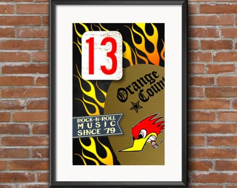 MIKE NESS Tribute Poster Print | 11 x 17 | Social Distortion