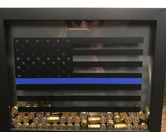 amazing thin blue line american flag police shadow box with bullets with police shadow boxes & Police Shadow Boxes. Cobb County Police Department Retirement ... Aboutintivar.Com
