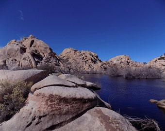 Barker Dam in Joshua Tree National Park - Landscape Photography - Instant Download