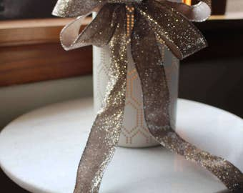 Glitter holiday bow