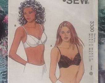 Kwik Sew 3300, sewing pattern for ladies bra
