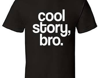 Graphic 'Cool Story Bro' T-shirt