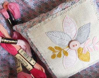 Lavender Pillow, Provence Lavender, Applique, Scented