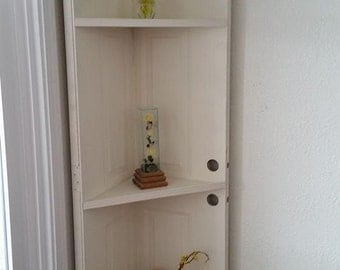 White corner shelf