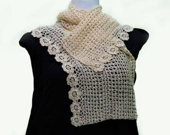 Crochet Scarves & Stoles in silk thread
